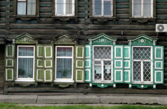 Syberia Irkuck drewniane okna