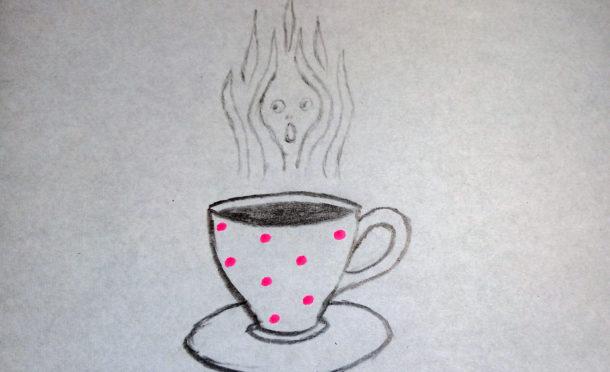 filiżanka z gorącą kawą